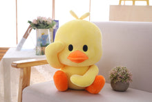 Load image into Gallery viewer, cute saluting duck plushie