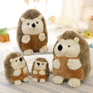 hedgehog plushie with different size and smooth spines