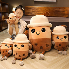 Load image into Gallery viewer, cute bubble milk tea plush toy with different sizes