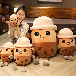 cute bubble milk tea plush toy with different sizes