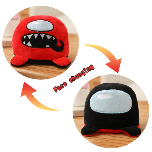cute flip among us plush toy in red and black