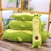 Load image into Gallery viewer, avocado long pillow plushies
