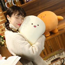 Load image into Gallery viewer, white squishy plushie pillow that is extremely cute and squishy