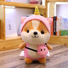 Load image into Gallery viewer, pink unicorn dressed up shiba inu plushie