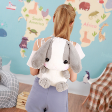 Load image into Gallery viewer, grey stuffed bunny cute backpack