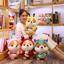 Load image into Gallery viewer, complete collection of all 4 dressed up shiba inu plushies
