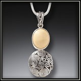 Ancient Ivory Ocean Currents Pendant