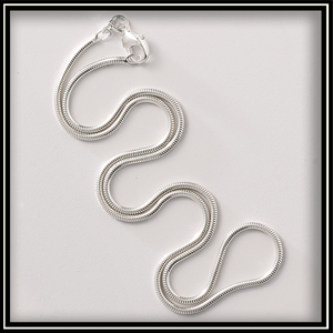 "20"" Sterling Silver Snake Chain"