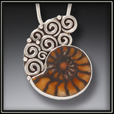 Meditation Silver and Moroccan Ammonite Necklace