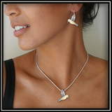 Fossilized Walrus Ivory Hummingbird Earrings