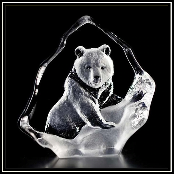 Crystal Mini Grizzly Bear