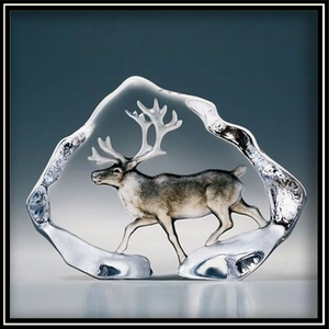 Crystal Reindeer - Painted