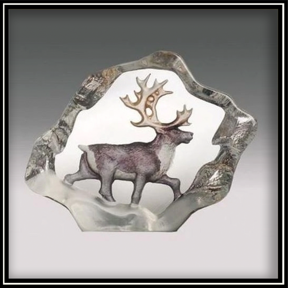 Crystal Mini Reindeer - Painted