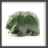 Jade Bear with Fish Carving