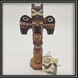 Totem Pole - Raven, Bear, and Sun 8""