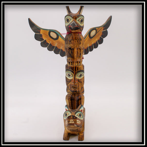 Totem Pole - Wolf and the Raven 14