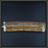 Whale Rib Bone Cribbage Board