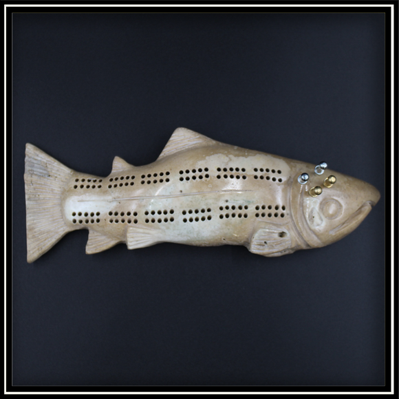Salmon Cribbage Board