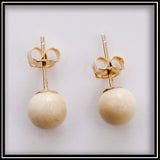 Mammoth Ivory Stud Earrings - 6 mm