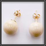 Mammoth Ivory Stud Earrings - 8 mm