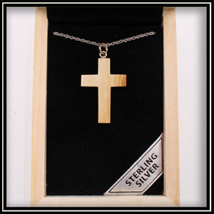 Mammoth Ivory Cross Necklace - 25mm
