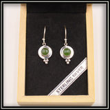Round Jade Cabochon Earrings - 6mm