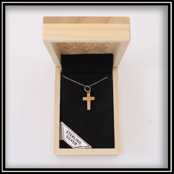 Mammoth Ivory Cross Necklace - 15mm