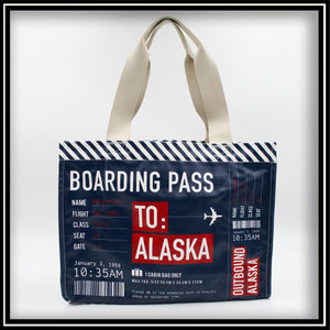 Alaska Boarding Pass Bag