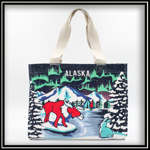 Alaska Moose Northern Lights Bag