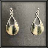 Jade & Mammoth Ivory Teardrop Earrings
