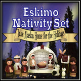 11 Piece Eskimo Nativity Set
