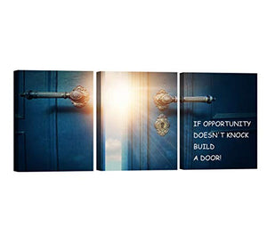 3 Panels Mindset is Everything Motivational Canvas Wall Art Inspirational Entrepreneur Quotes Poster Print Artwork Painting Picture for Framed Home Decoration Living Room office bedroom 36''W x 16''H