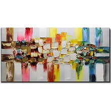Load image into Gallery viewer, Tiancheng Art 24 x 48 Inch Abstract Art Painting 3D Oil Hand Painted on Canvas Wall Art Prints Framed Palette Knife Oil Canva Painting Acrylic Ready to Hang