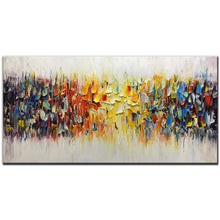 Load image into Gallery viewer, AMEI Art Paintings,24x48inch 3D Hand-Painted On Canvas Abstract Colorful Melody Oil Painting Modern Contemporary Artwork Home Decor Wall Art Wood Inside Framed Ready to Hang for Living Room