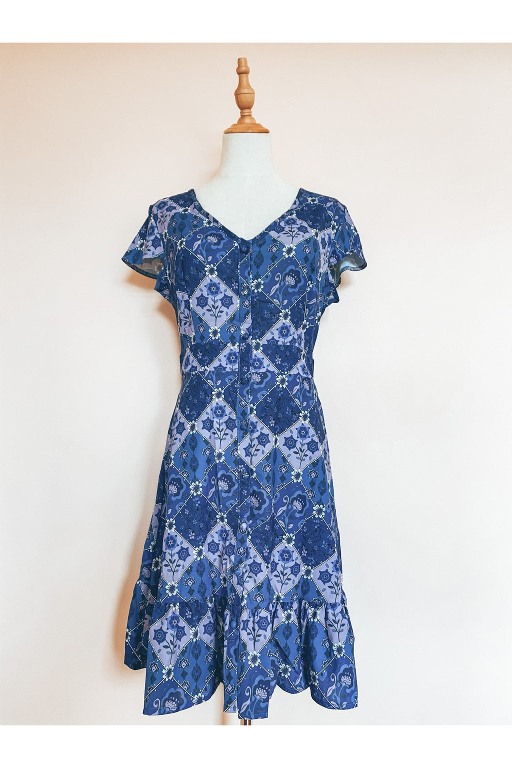 Mosaic Dress (Blue)