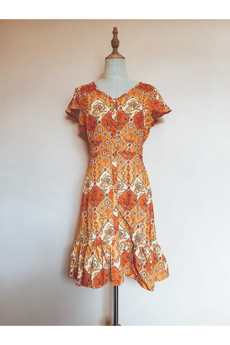 Mosaic Dress (Orange)