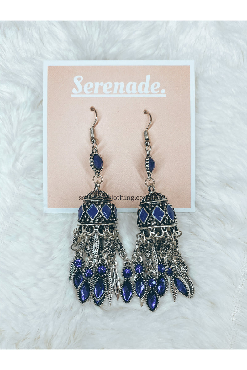 Sacred Gem Earrings (Blue)