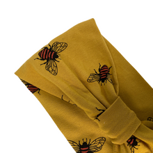 Load image into Gallery viewer, Golden mustard bee jersey headband