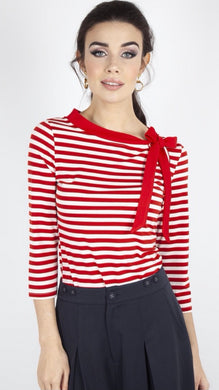 Sidney Striped Neck Tie Top