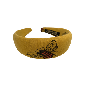 Mustard yellow bee padded headband