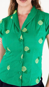 Pineapple Embroidery Shirt