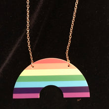 Load image into Gallery viewer, Rainbow Curve Necklace