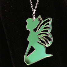 Load image into Gallery viewer, Iridescent Fairy Necklace