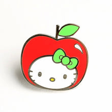 Load image into Gallery viewer, Punky Pins Hello Kitty Apple Head Enamel Pin