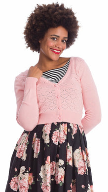 Love Heart Cardigan Pink