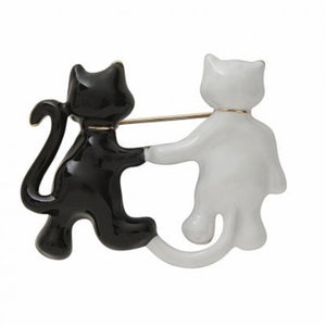 Cat Friends Brooch