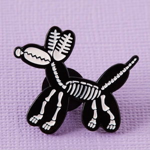 Punky Pins Balloon Animal Skeleton Enamel Pin