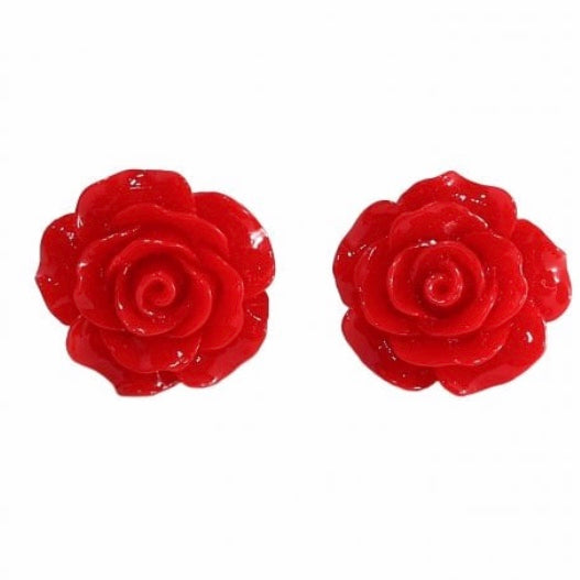 English Rose Earrings Red