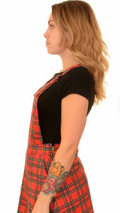 Run & Fly Tartan Pinafore