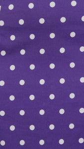Collectif Polly Pretty Polka Pencil Skirt Purple
